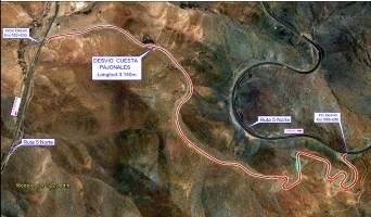 MOP informa de tronaduras en Incahuasi para mañana