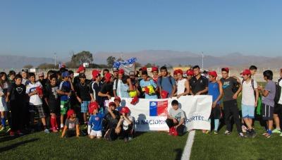 Niños y jóvenes de Vallenar celebraron con fútbol