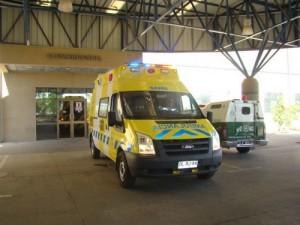 Ambulancia hospital provincial accidente Vallenar