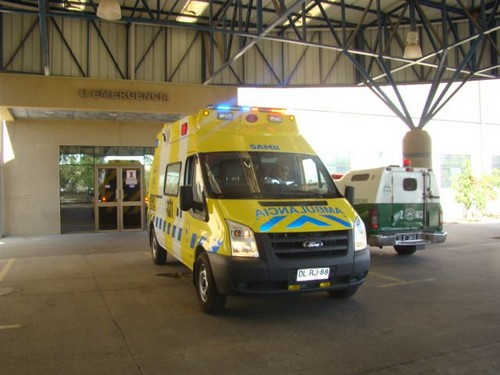 Ambulancia hospital provincial accidente Vallenar
