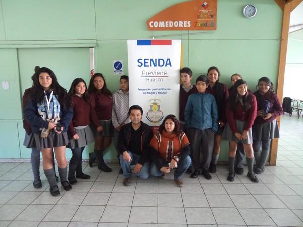 Exitosa capacitación a escolares de Huasco en prevención del consumo de drogas y alcohol