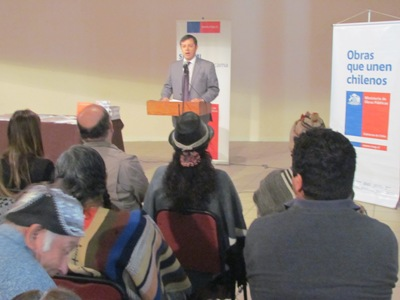 Seremi (s) MOP Atacama, Víctor Herrera, encabezó la actividad y valoró el trabajo desarrollado con las comunidades indígenas de la región.