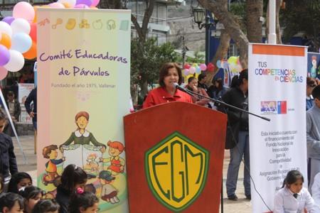 Gobernadora felicitó iniciativa  de Explora Conicyt en educación parvularia