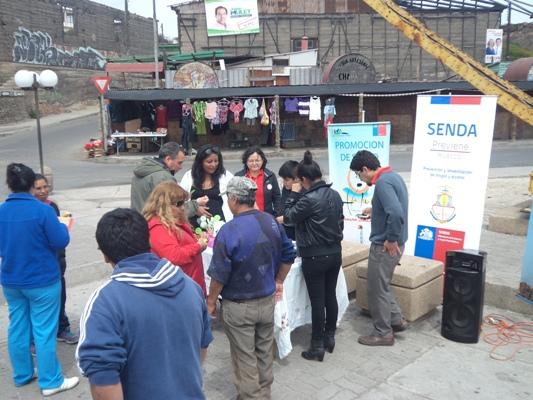 Senda de Huasco realiza campaña de difusión a los vecinos