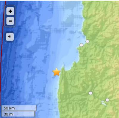 Sismo de 6,1 Richter afecta a zona norte y Shoa descarta tsunami