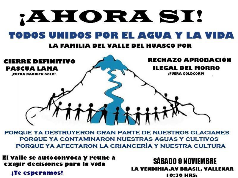 Este sábado se realiza marcha ambiental contra Pascua Lama y El Morro