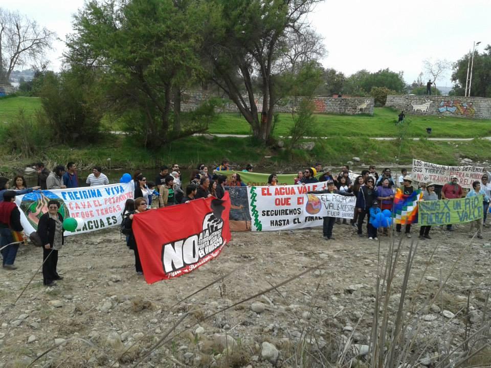 Escasa participación tuvo marcha ambiental de Vallenar