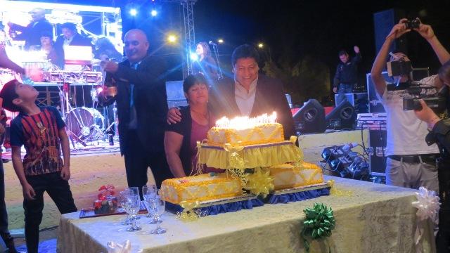 Con fuegos artificiales y show musical Domeyko celebró sus 100 años de vida