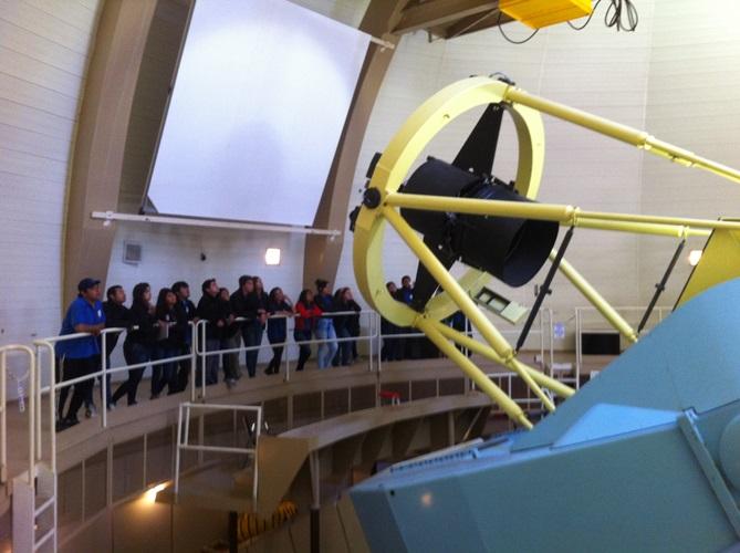 Alumnos de Alto del Carmen visitan observatorio Las Campanas