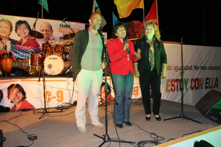 La candidata a diputada Yasna Provoste cierra su campaña en Caldera