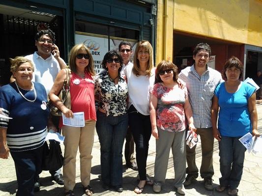 Senadora Rincón llegó a Vallenar para entregar apoyo a Yasna Provoste