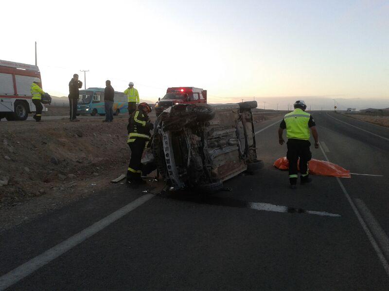 Accidente deja una persona fallecida al norte de Vallenar
