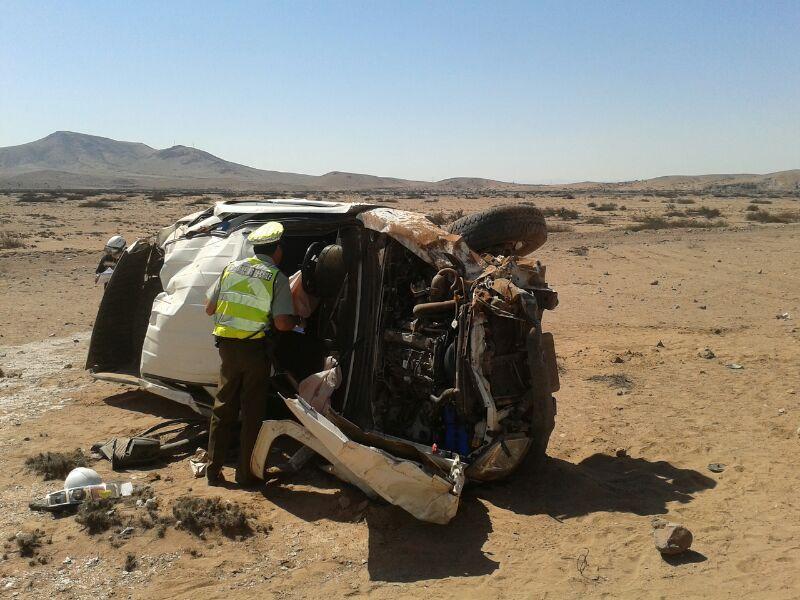 Tres lesionados en nuevo accidente al norte de Vallenar
