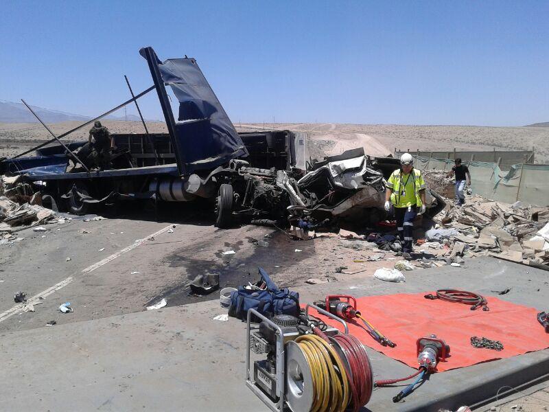 Dos fallecidos en accidente ocurrido al norte de Vallenar