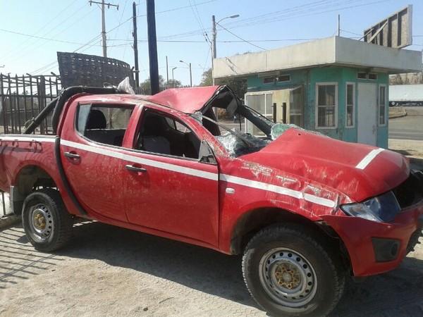 Camioneta volcó a la altura del kilómetro 669 entre Vallenar y Copiapó
