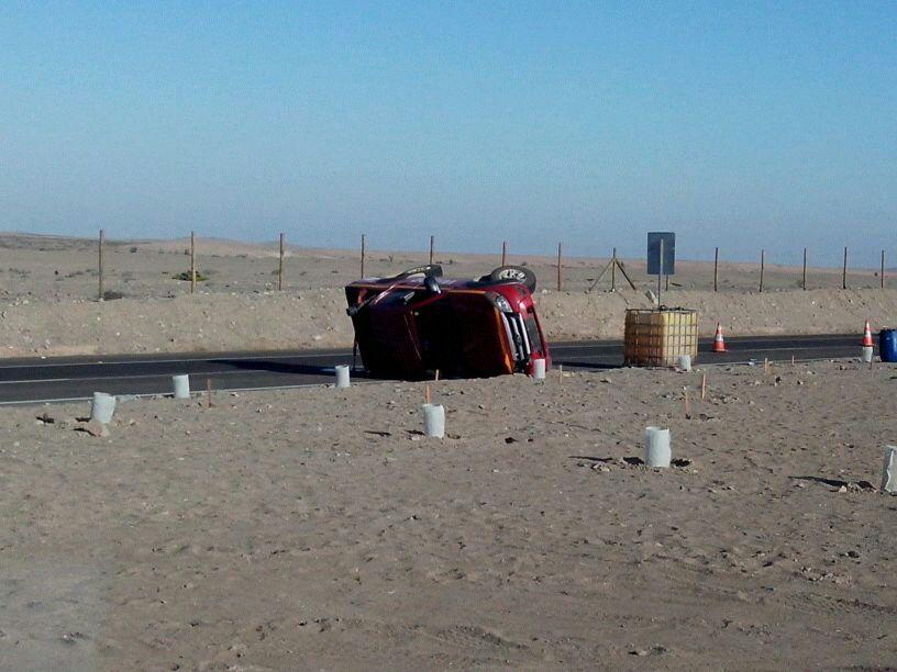 Nuevo accidente al norte de Vallenar: Personas resultaron ilesas