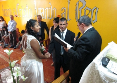 Reos recibieron sagrado vínculo en CDP de Vallenar