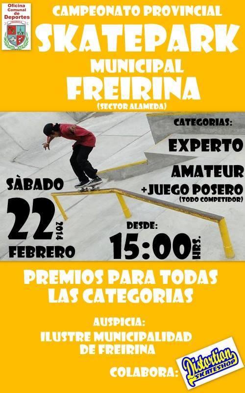 Freirina se la juega con torneo provincial de skateboarding