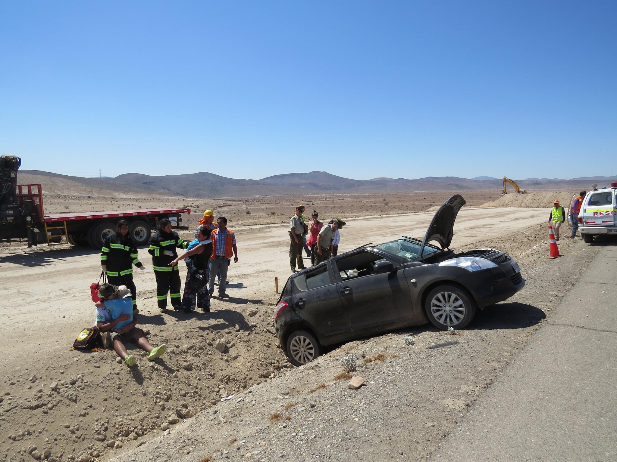 Accidente al sur de Vallenar deja varios lesionados