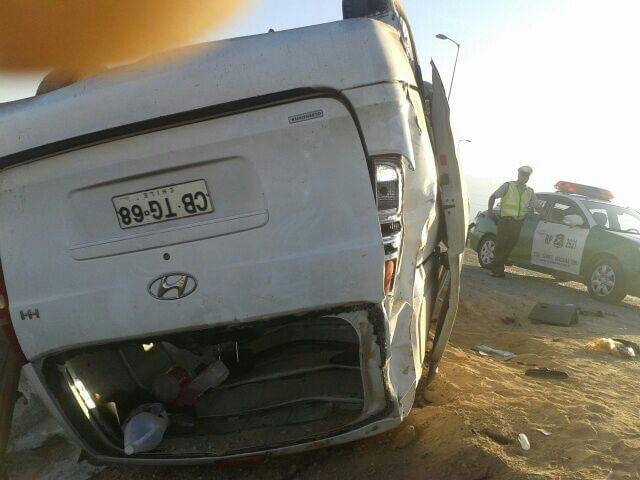 Volcamiento de furgón al norte de Vallenar deja dos personas lesionadas