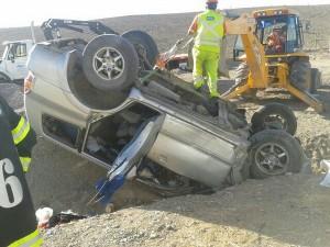 Accidente al sur de Vallenar