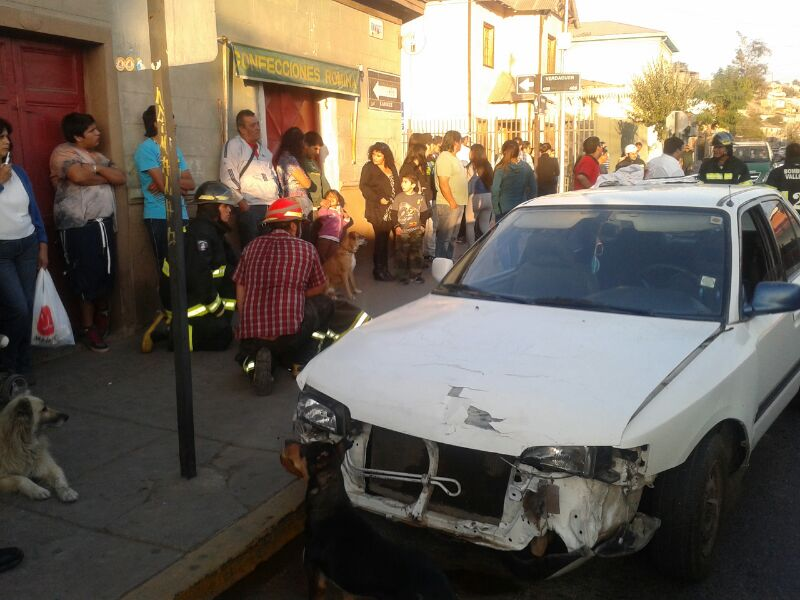 Espectacular accidente en concurrida esquina de Vallenar