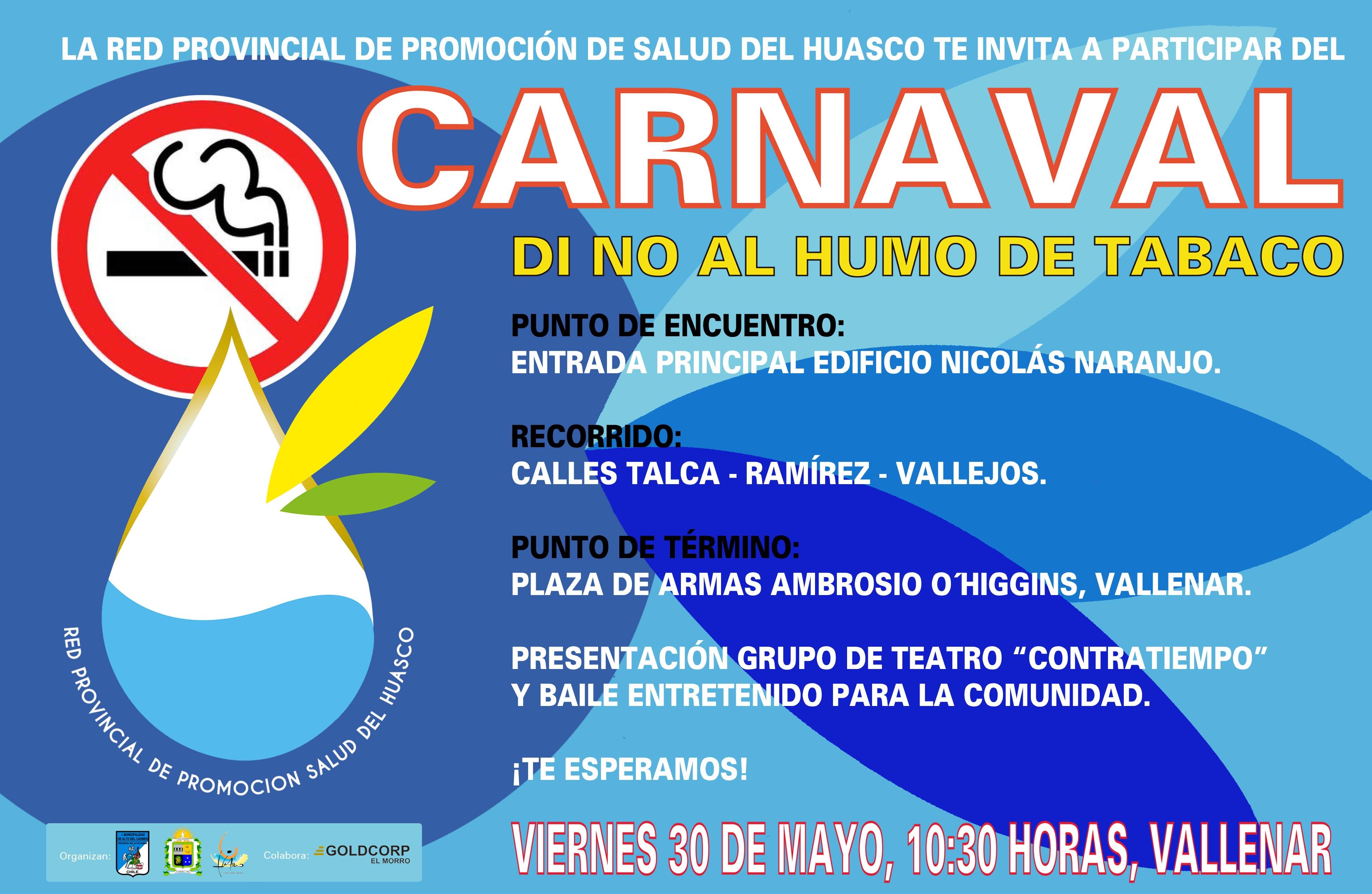 Realizarán carnaval contra el consumo del tabaco en Vallenar