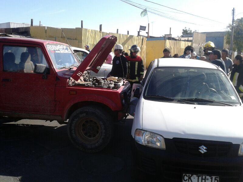 Nuevo accidente en peligrosa intersección del centro de Vallenar