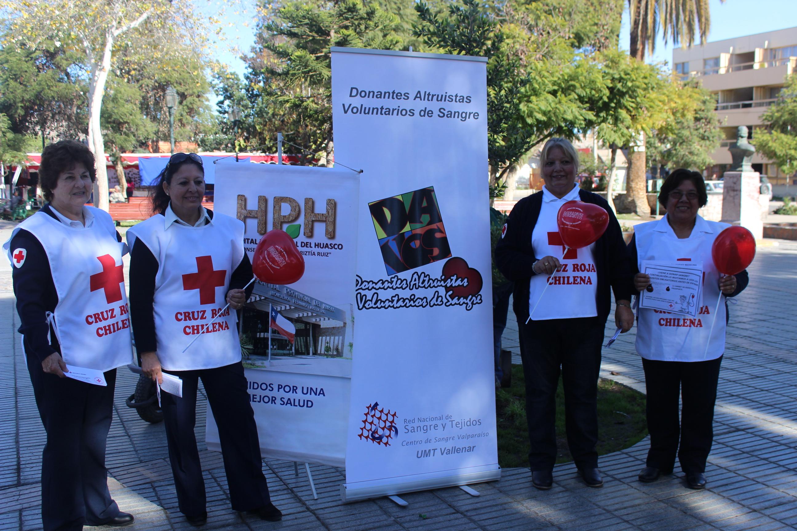 Hospital Provincial y Cruz Roja conmemoran día mundial de donante de sangre voluntario