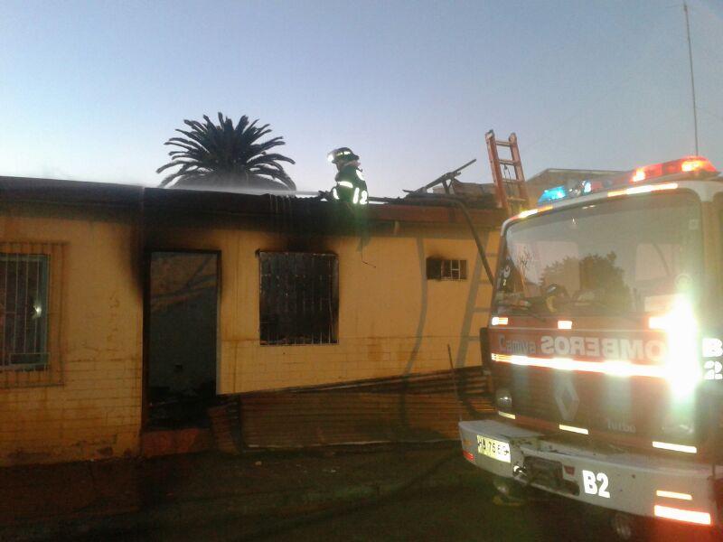 Incendio afectó vivienda en centro de Vallenar