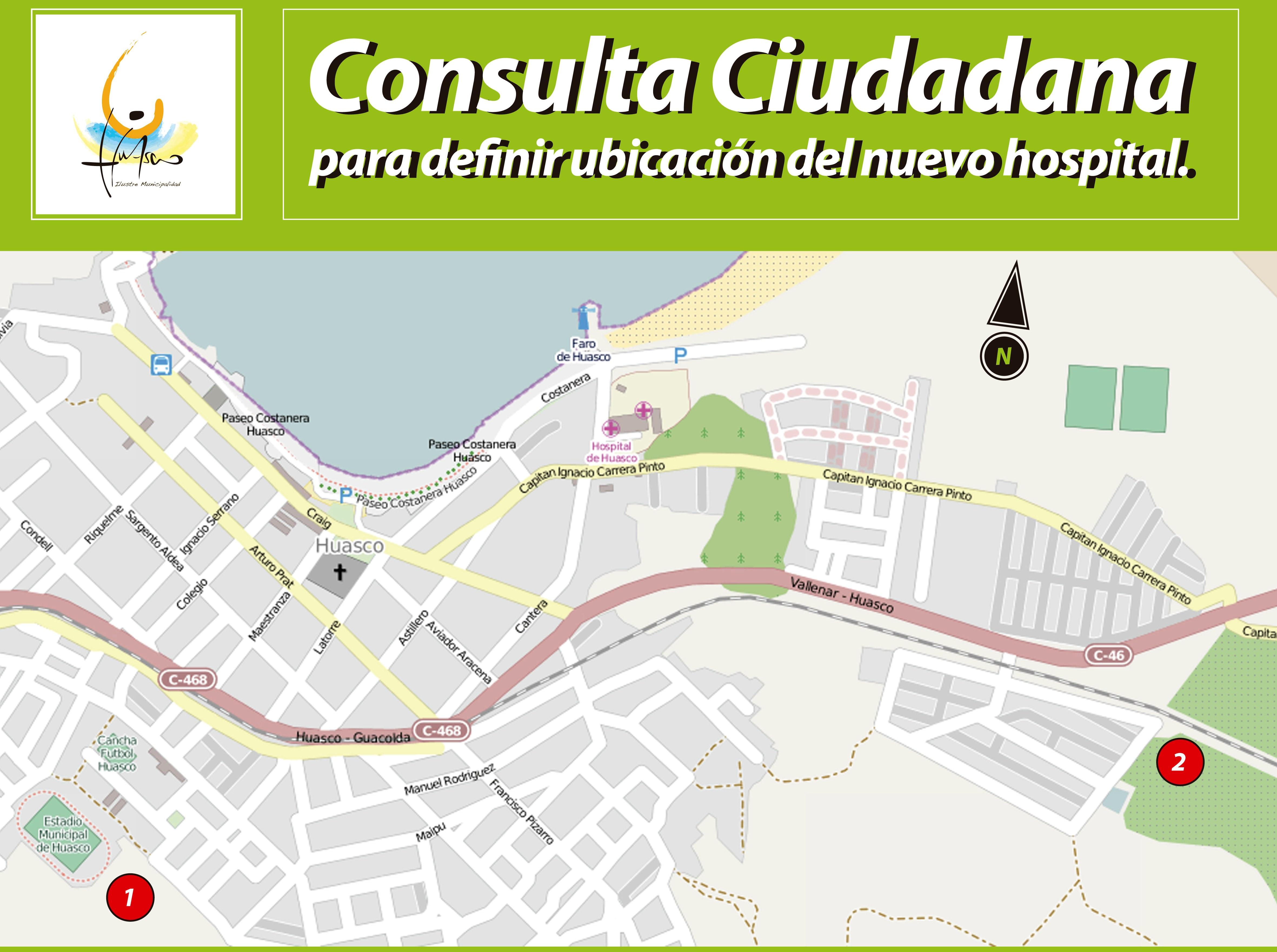 Próximo domingo se realizará consulta ciudadana para la ubicación del nuevo hospital de Huasco