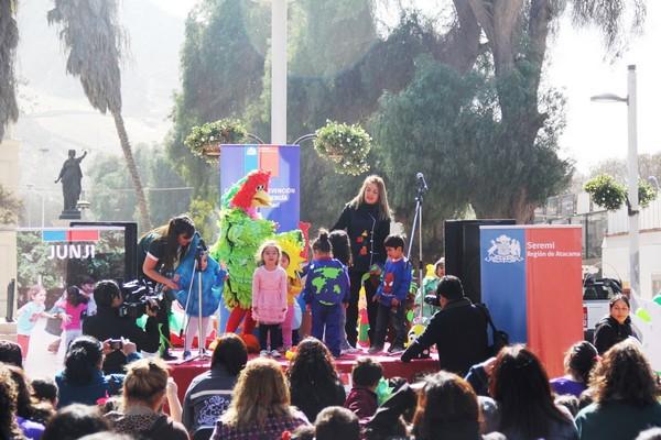 Reciclaje pilas jardines infantiles