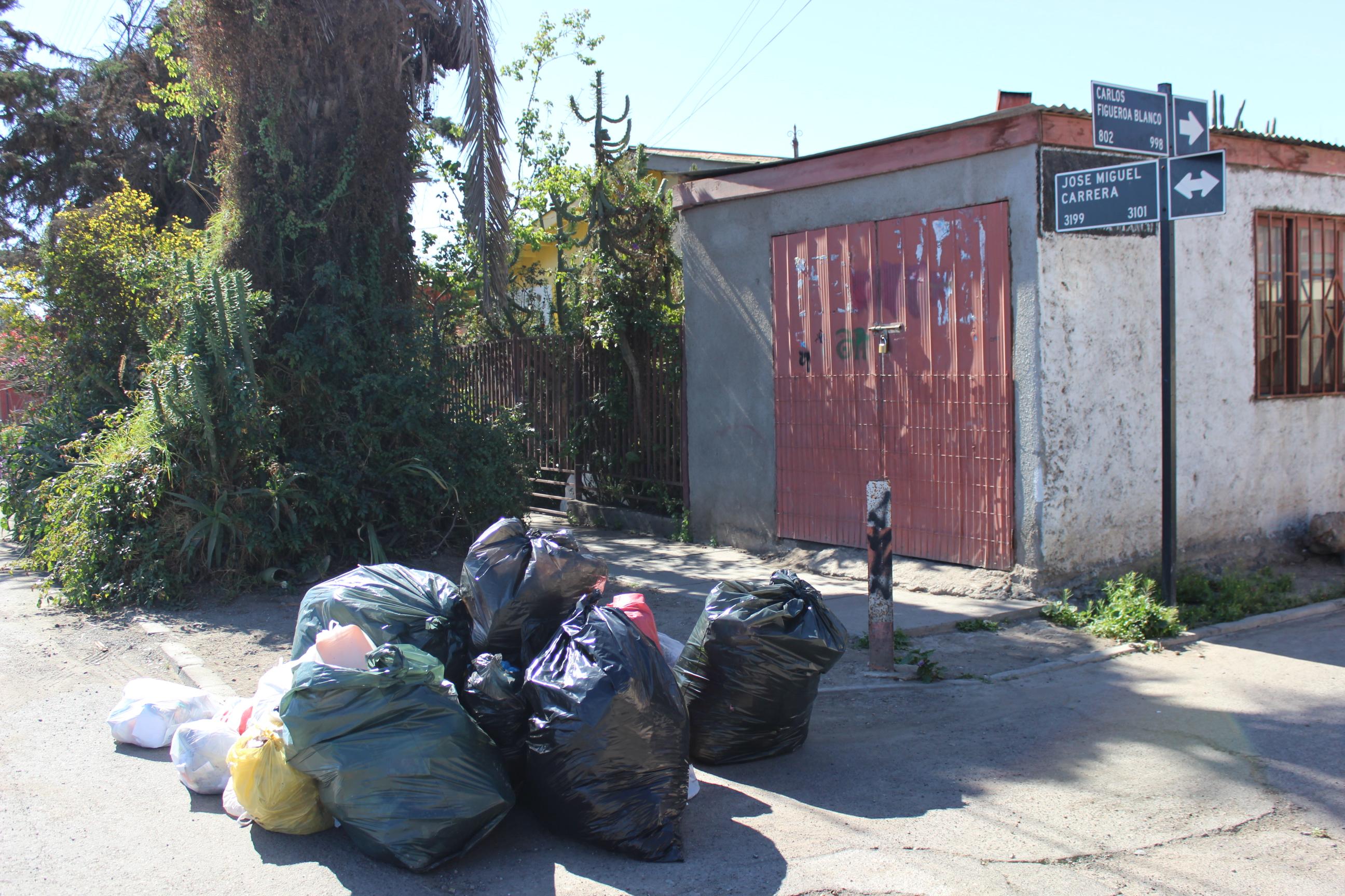 Primeros signos de emergencia sanitaria en calles de Vallenar por toma de relleno sanitario