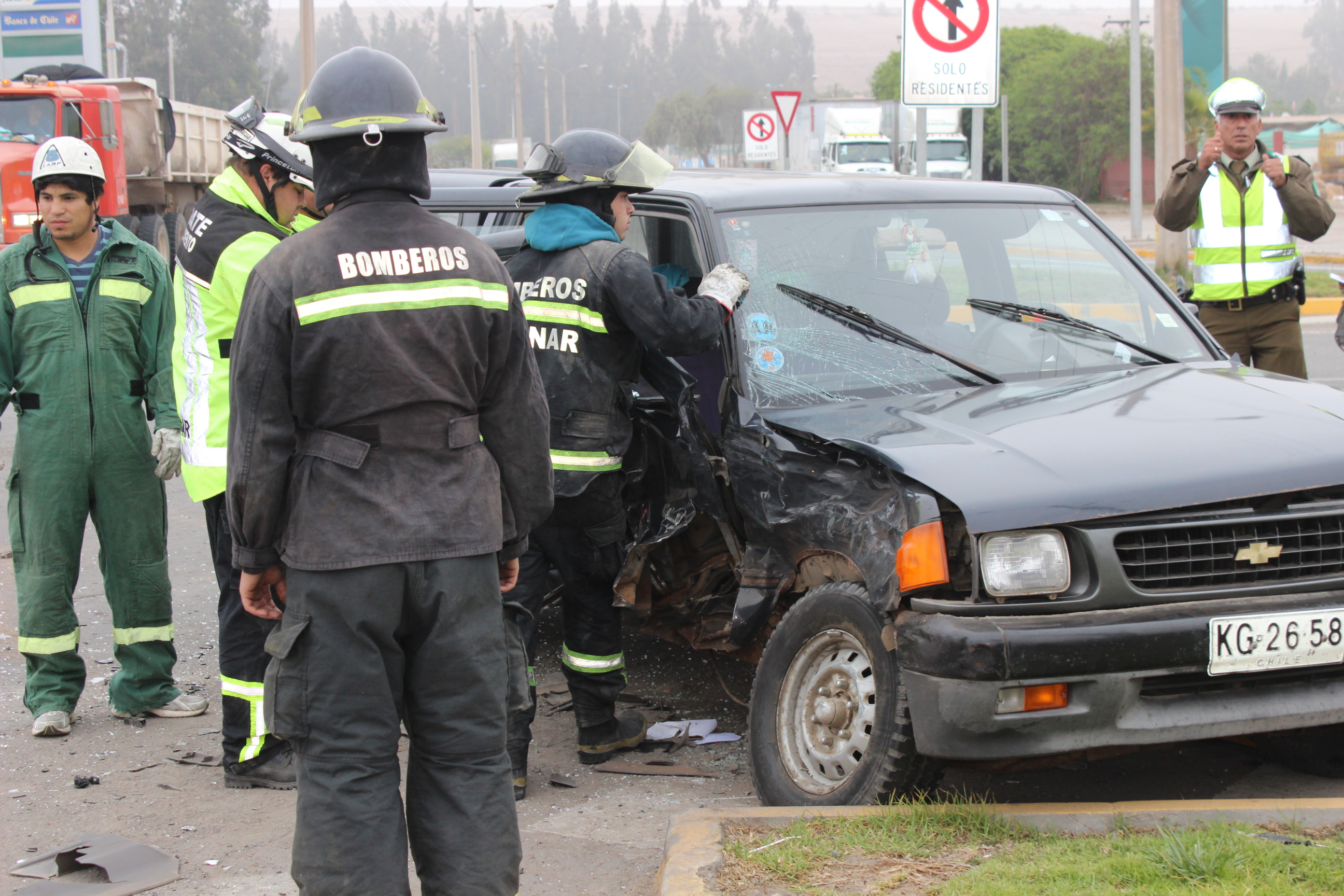 Accidente de tránsito revela falencias en cruce carretero a Huasco