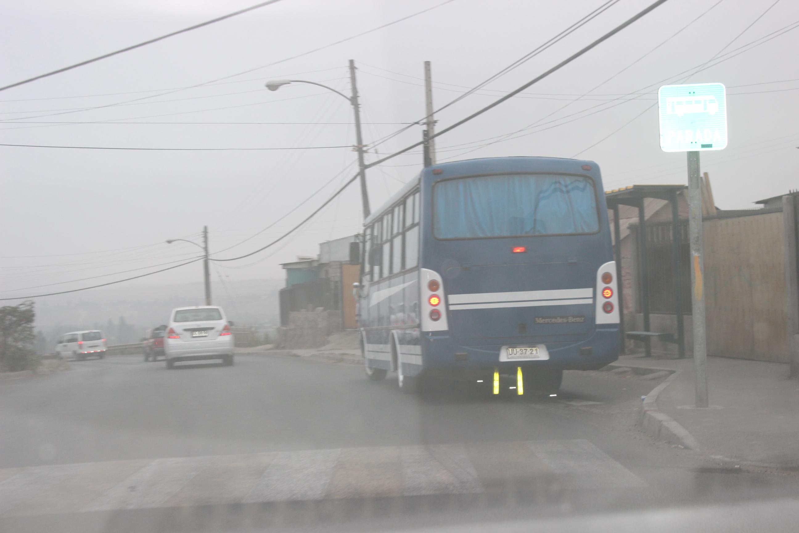 """Microbuses sacaron """"la cara"""" en Vallenar durante paro de locomoción colectiva"""