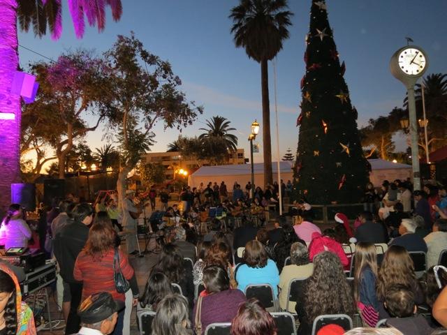 Vallenar comienza a encender sus árboles de Navidad