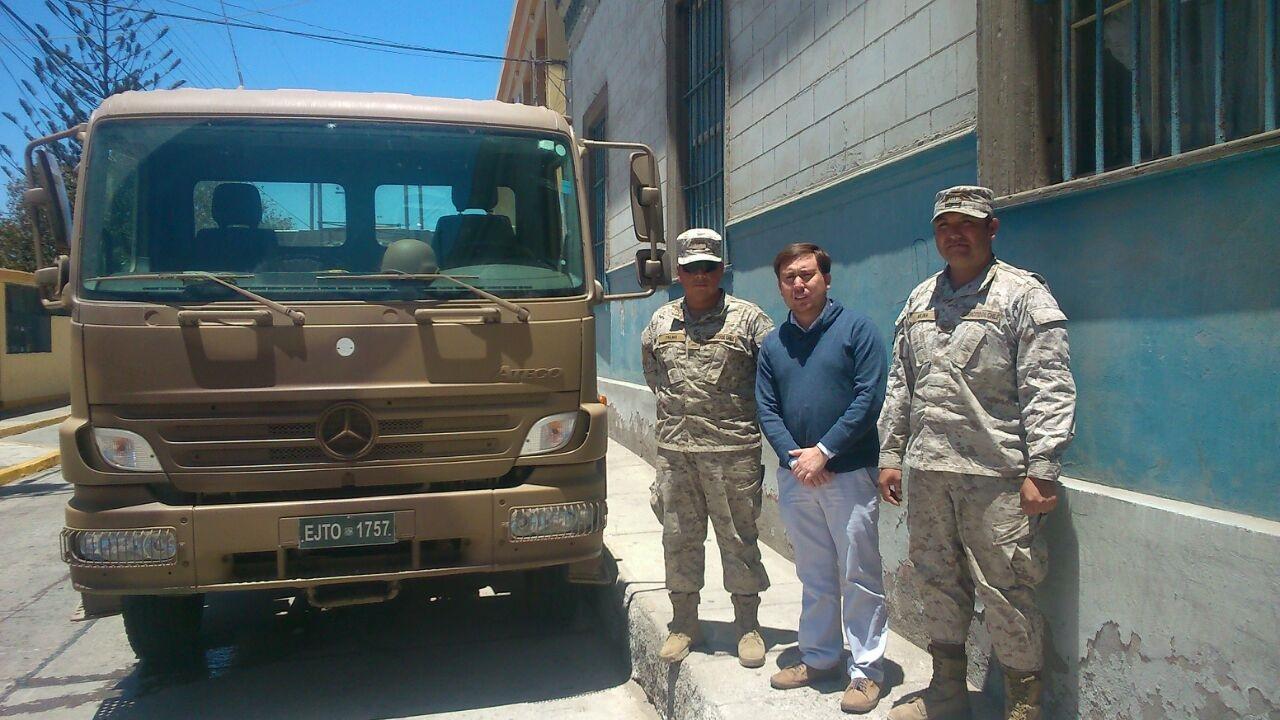 Comunidad de Freirina recibió importante apoyo del Regimiento Copiapó
