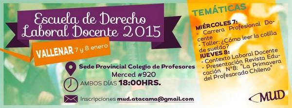 Afiche Escuela Vallenar