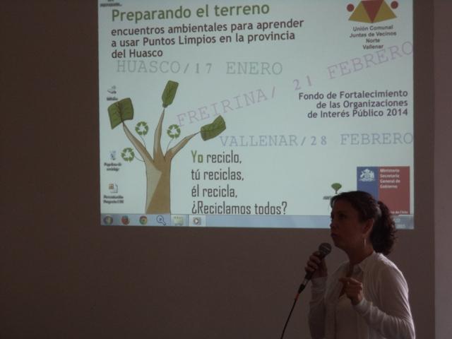 Unión comunal de Juntas de Vecinos norte de Vallenar expone experiencia ambiental en Huasco