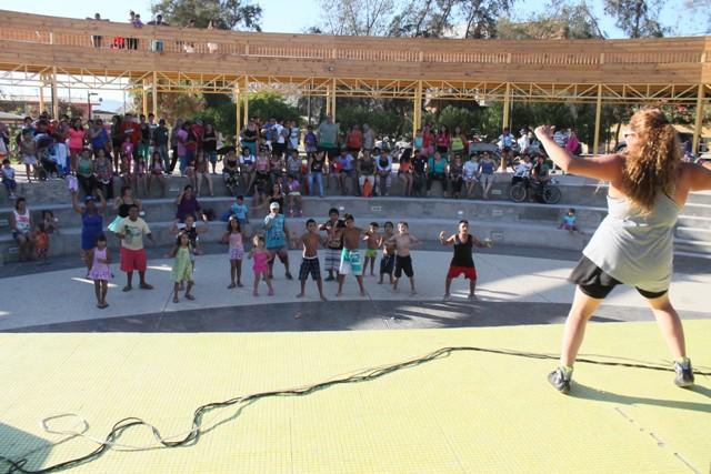Vecinos cierran el verano en parque Quinta Valle