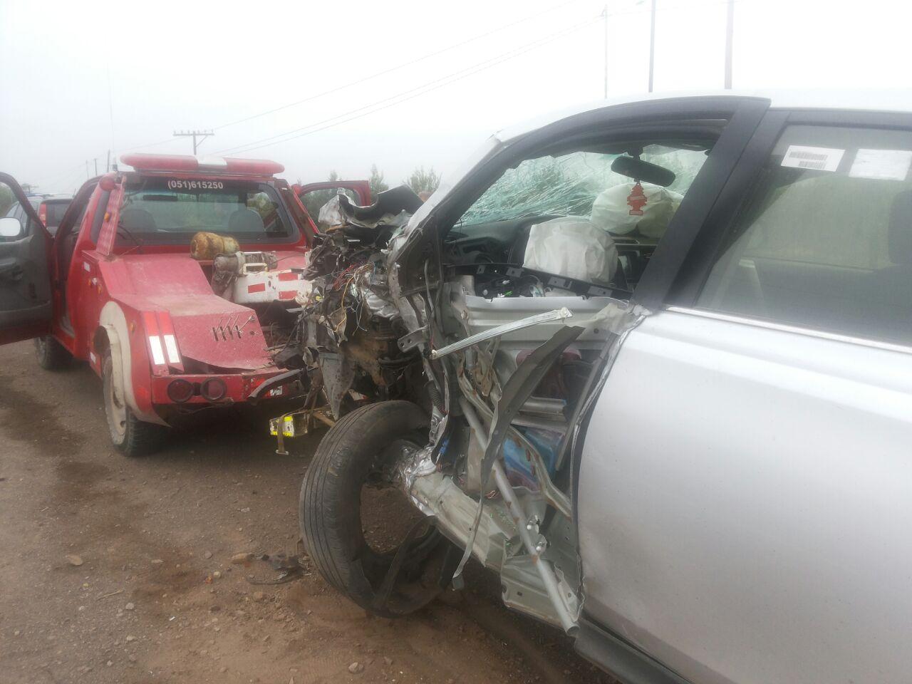 Airbags salvan a conductora en choque de vehículos en ruta C-486