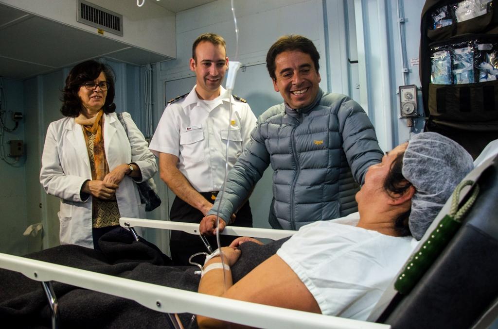 Verifican en terreno desarrollo del operativo médico y social que la Armada realizó en Atacama