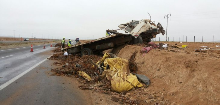 2 lesionados con riesgo vital producto de accidente en Vallenar