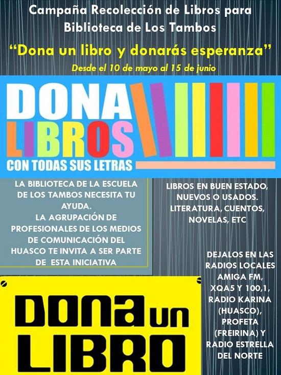 afiche dona libros