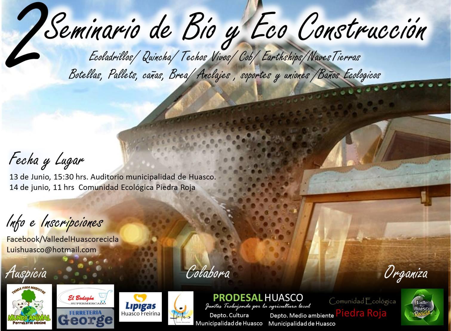 En Huasco se realizará seminario de Bio y Eco construcción