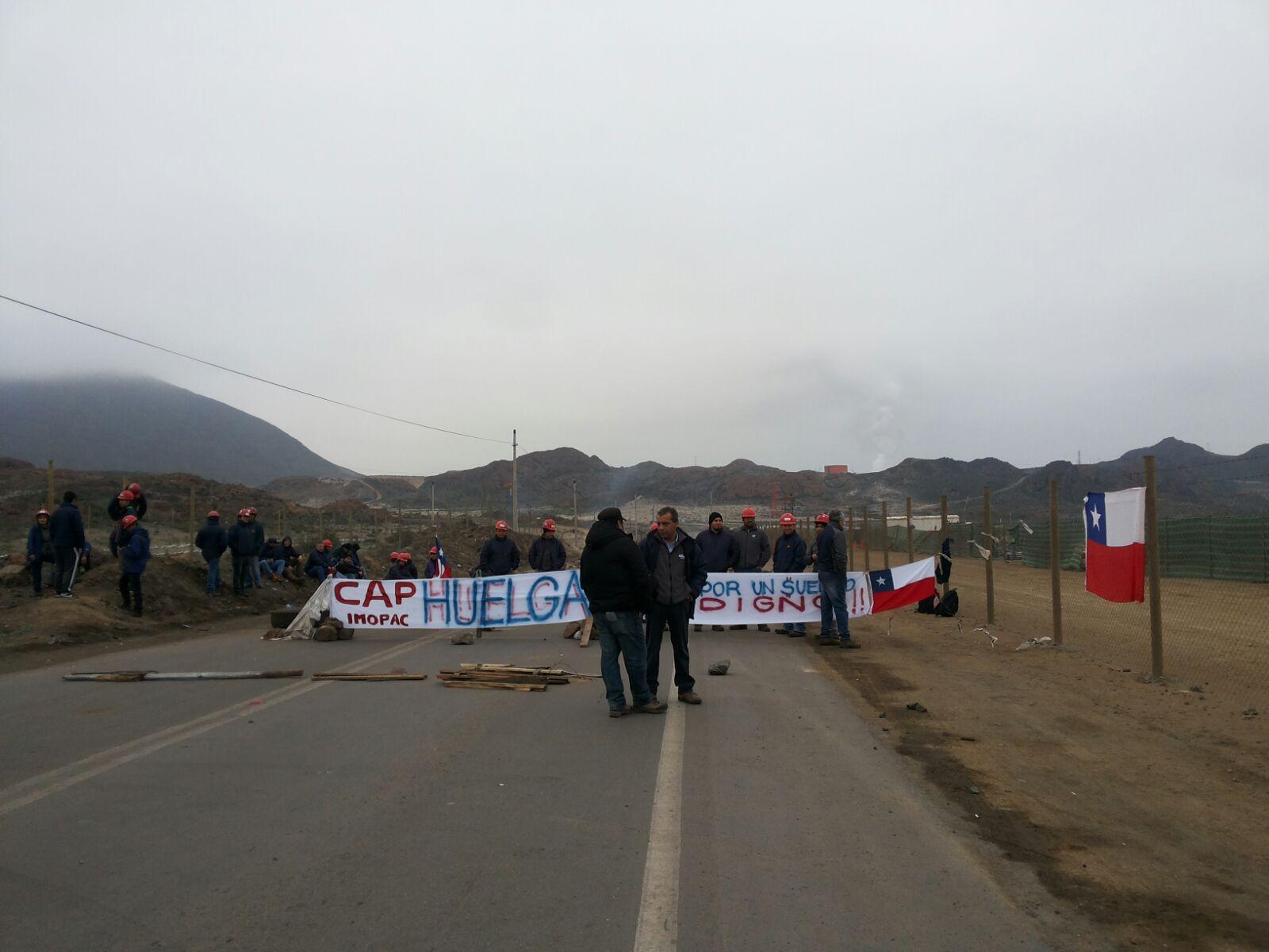 Imopac inicia huelga y se toma instalaciones de Planta de Pellets en Huasco