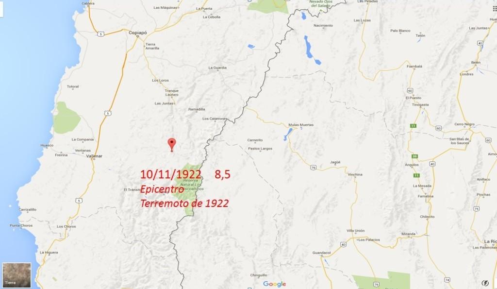 epicentro terremoto 1922