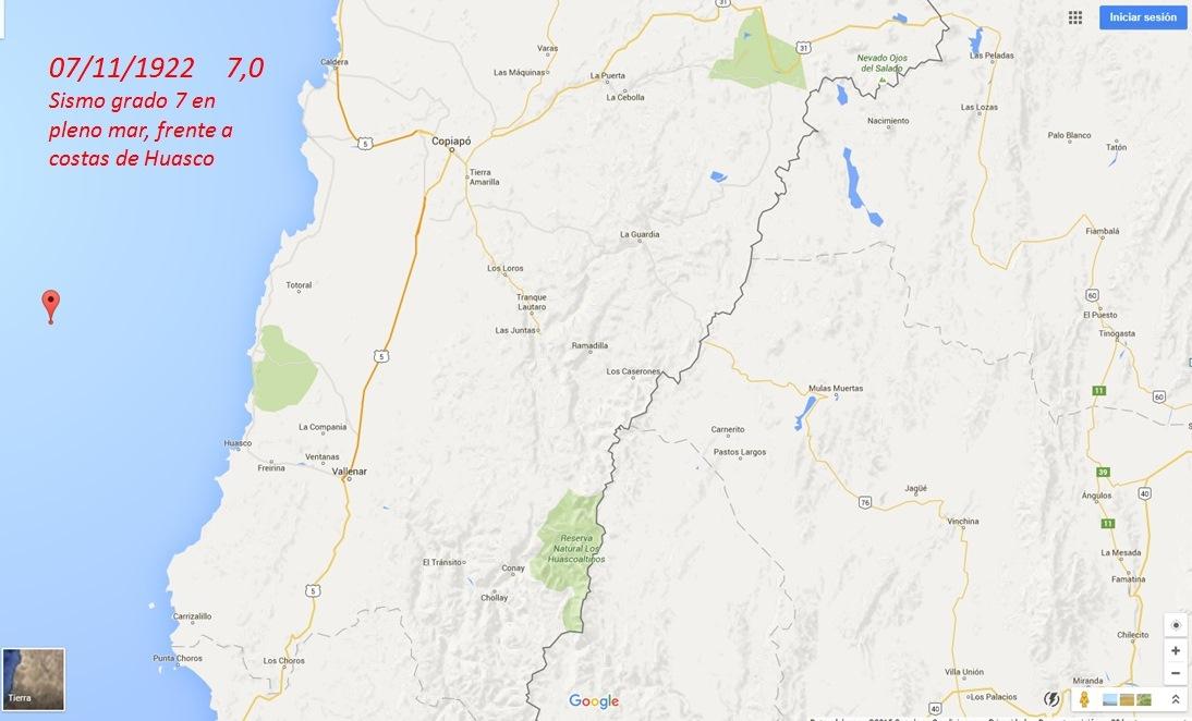 """94 años del terremoto  1922: Sismo de 7º """"avisó"""" tres días antes"""