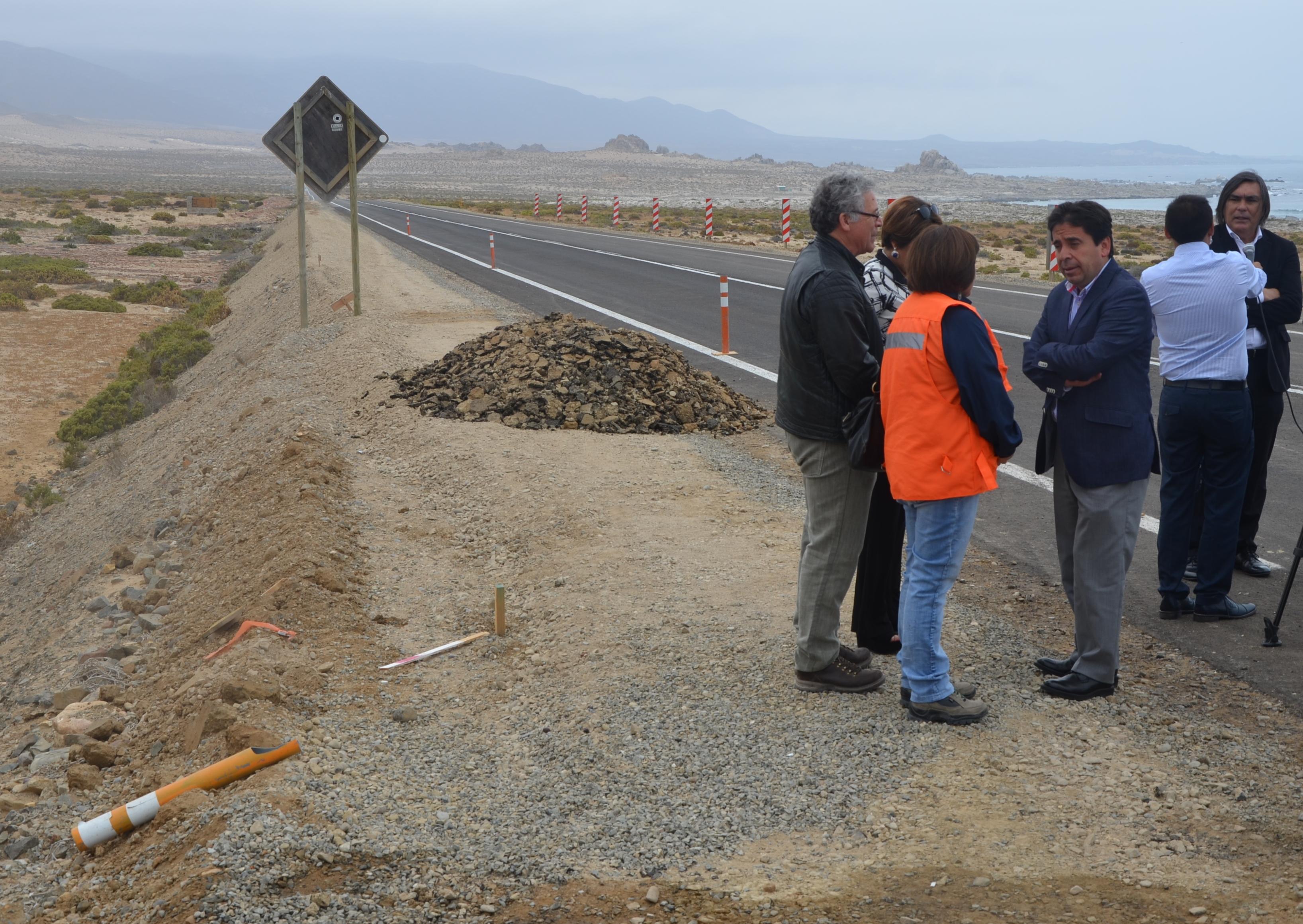 Pavimentación de ruta costera Huasco - Carrizal Bajo estará terminada el 6 de enero