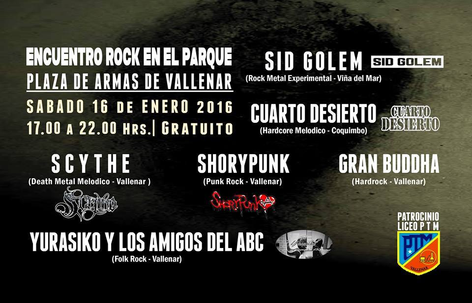 Hoy se realiza Tocata Rock en Vallenar